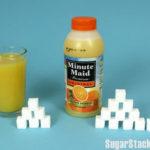 砂糖てんこ盛り!!100%ジュースは平気でしょう??ミニッツメイド編
